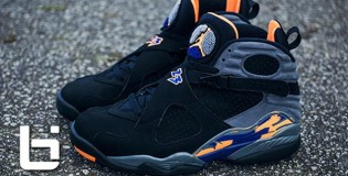 "Jordan Retro VIII""s Black,Cool Grey,& Citrus Orange"