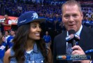 Skylar Diggins (looking good) interview at Griz/Thunder game