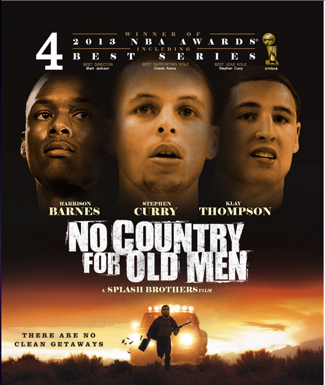 No Country For Old Men Poster W/ Steph, Klay And Barnes