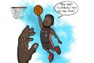 "Art of the Day: LeBron dunking on Hibbert ""Roy won't Carmelo Me"""