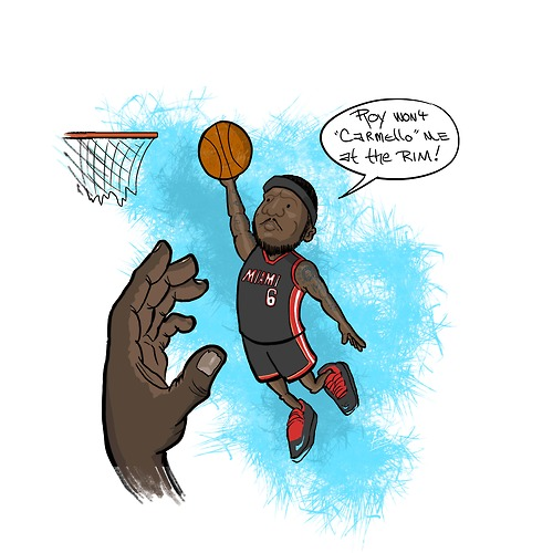 Lebron Dunking Drawing And Showed Lebron Dunking Over