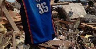 Image of the Day: Kevin Durant jersey among rubble in Oklahoma