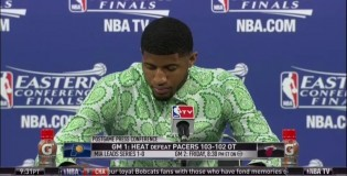 Paul George makes ridiculous 3 pointer to force OT & wears a more ridiculous outfit after the game