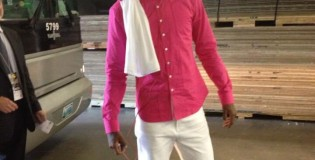 Paul George with a Pink Shirt & Matching Pink Foams | It's Not About The Shoes Commercial