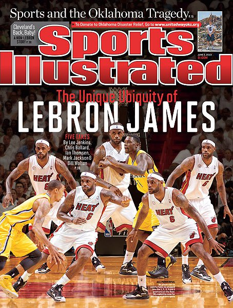 LeBron on Cover of new Sports Illustrated / George Hill says only God is scarier than LeBron