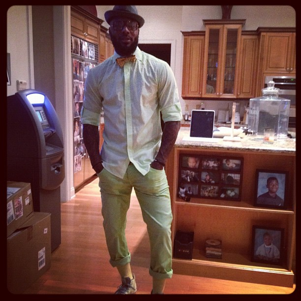 DeShawn Stevenson has an ATM that charges friends transaction fees in his house