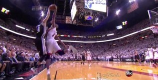 Foul or No Foul? Bosh blocks Danny Green's 3 point attempt at end of game 6