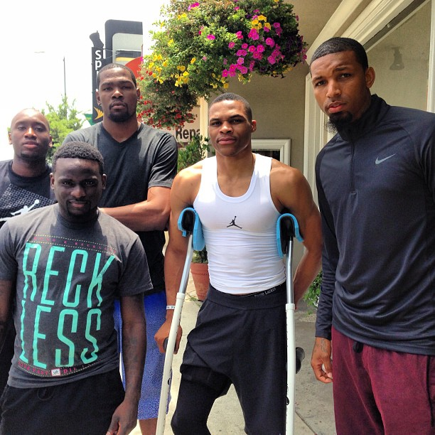 Photo of Russell Westbrook & his friend