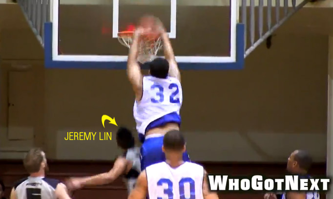 Jeremy Lin scores 45 points in SF ProAm Game, gets dunked on by Drew Gordon
