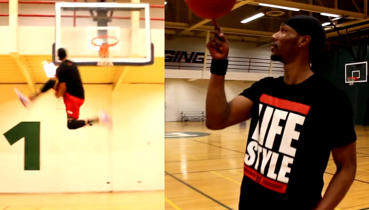 Dunks of the Day: Chris Staples does 4 360 between the legs dunks in 1 minute