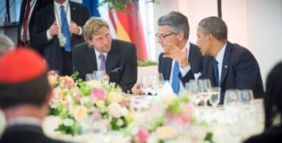 Dirk celebrates his birthday dining with President Obama & German Chancellor
