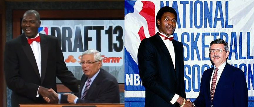 Hakeem Olajuwon surprises David Stern at the 2013 NBA Draft | Stern loves the boos