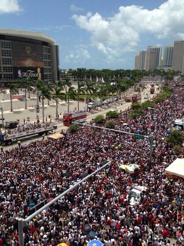 """""""Haters"""" don't want you to know that the Heat had 400k people show up for their championship parade"""