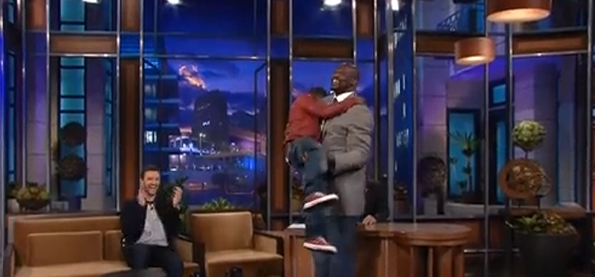 Kevin Hart on Conan: Talks about Shaq picking him up like a baby in front of his kids