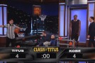Kobe Bryant shootout with 2 year old Titus on Jimmy Kimmel Live