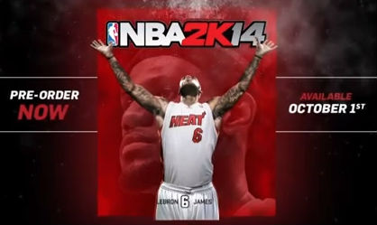 New NBA2k14 commercial / LeBron James graces the cover
