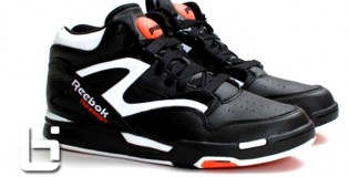 Reebok Pump  Black/White&Varsity Orange