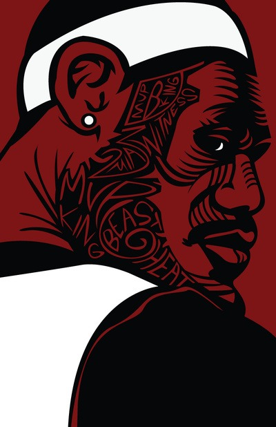 Art of the Day: Red Beast LeBron