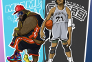 Art of the Day:  Heat/Rick Ross vs Spurs/KRS One.. Who You with?