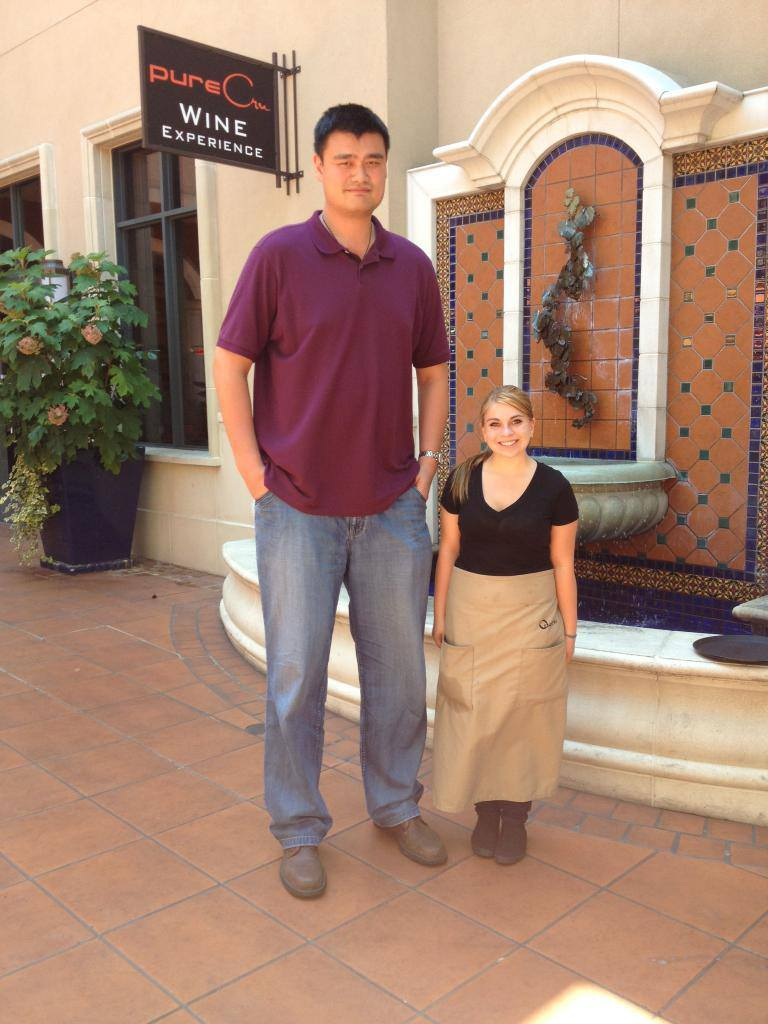 Reminders that Yao Ming is really really tall