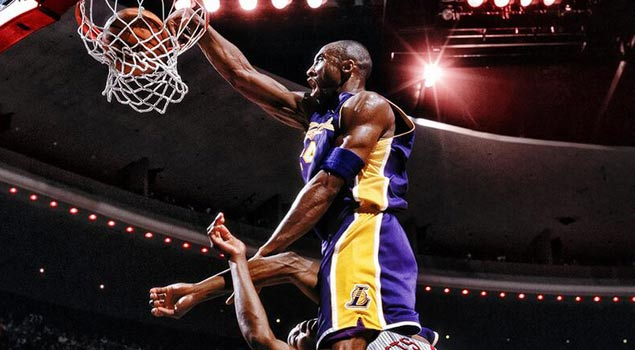 SICK Graphic of The Day! Kobe Bryant Dunking On Dwight Howard Playing For The Rockets