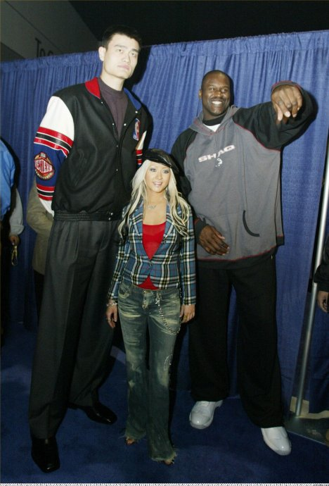 Yao-Shaq-and-Christina
