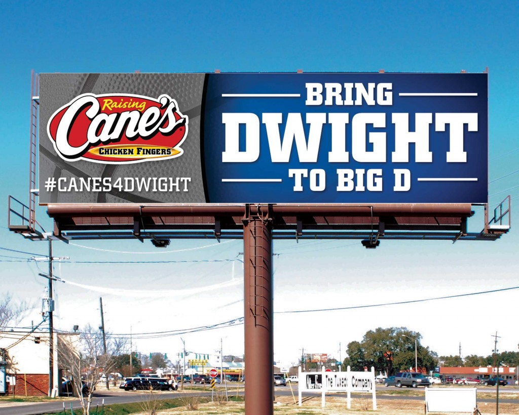 Raising Cane's will give Dwight Howard a lifetime supply (half a million dollars) of fried chicken if he signs with Mavs