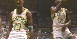 Shawn Kemp's most infamous post dunk celebrations   No taunting techs in the 90s