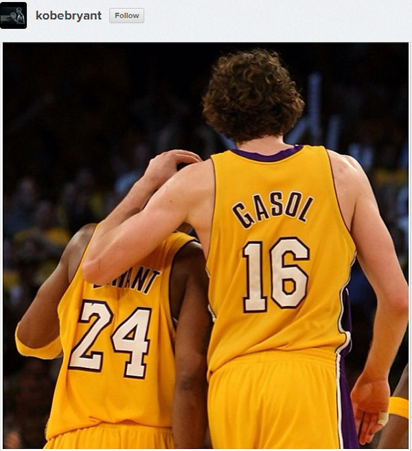 Kobe unfollows Dwight Howard on Twitter and posts a pic of Pau on Instagram | Dwight to Houston reactions