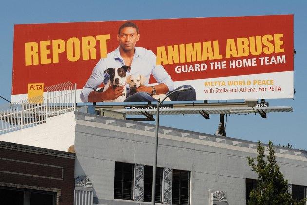 Metta World Peace Is Fighting Animal Abuse With Peta Ballislifecom