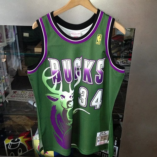 new style 1d9d7 5e0fb ray allen retro bucks jersey