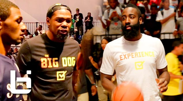 Kevin Durant's Team Beats James Harden's Team In Nike Summer Is Serious Game!