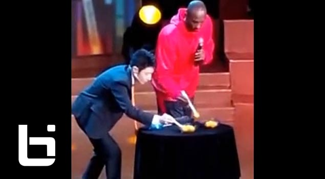Chinese Tv Presents Kobe Bryant Chopstick Competition