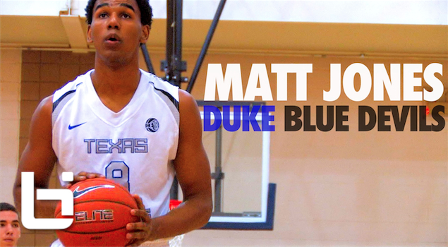Matt Jones Official Ballislife Mixtape | Duke Bound Sharp Shooter