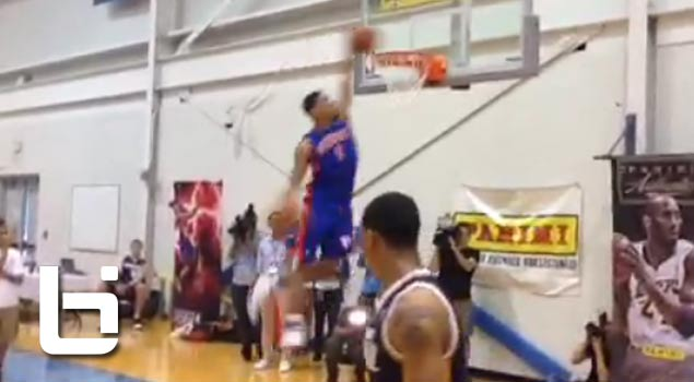 Tony Mitchell 2 Insane Dunks During NBA Rookie Orientation