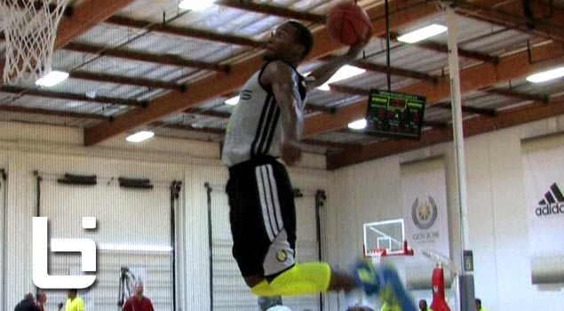 Austin Rivers Shows Off His Hops w/Windmill Dunk at Adidas Nations