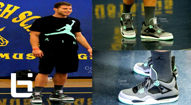 "Blake Griffin Wears Unreleased Retro ""Green Glow""  Jordan IV's"