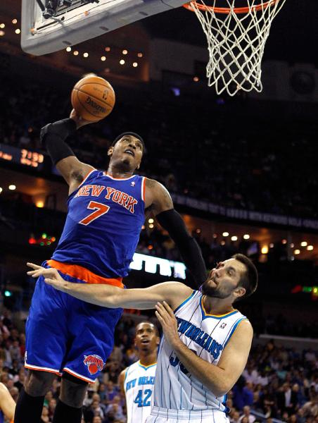 carmelo anthony dunking on people wwwpixsharkcom