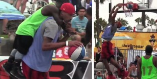 Pacer's George Hill shows off his streetball moves at Venice Beach
