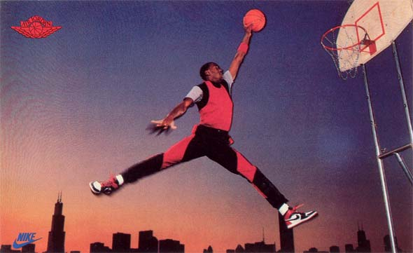 Origin of the Jumpman Logo | Classic shot of Jumpman