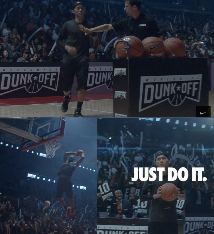 "timeless design 05aac 2ebec LeBron James Finally Does a Dunk Contest   Nike ""Just Do It"" 25th  anniversary"