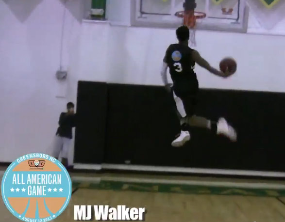 "Whoa..wait..what…a Middle School Dunk Contest made up of ""kids"" from CP3's Camp"
