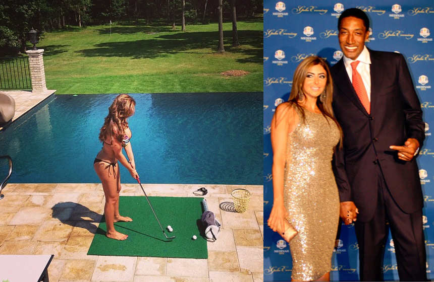 Scottie Pippen is doing just fine – wife playing golf in a swimsuit