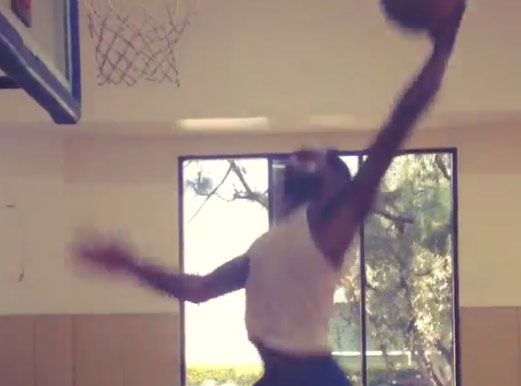 Dunk Frenzy – Shabazz Muhammad shows off his favorite workout drill