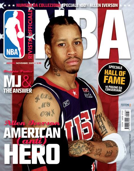 Iverson & McGrady on Italian NBA Magazine Covers