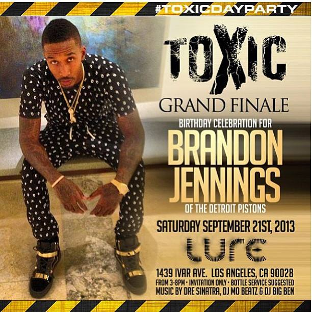 Brandon Jennings Birthday Party Flyer