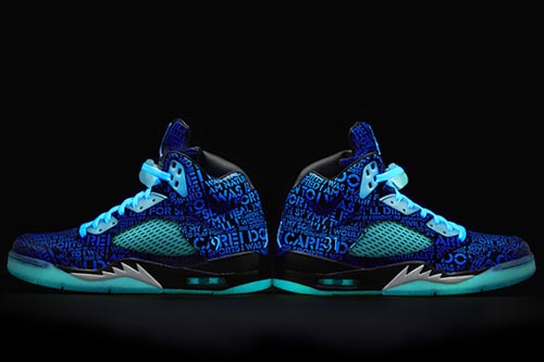 Ballislife | Air Jordan Doernbecher 5 Glow in the Dark Side View