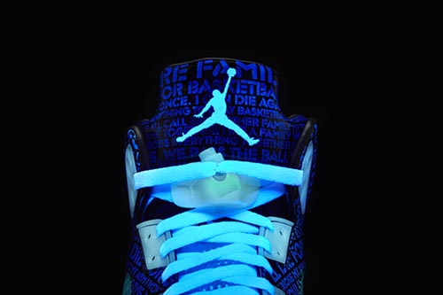 Ballislife | Air Jordan Doernbecher 5 Tongue and Lace Lock Glow in the Dark