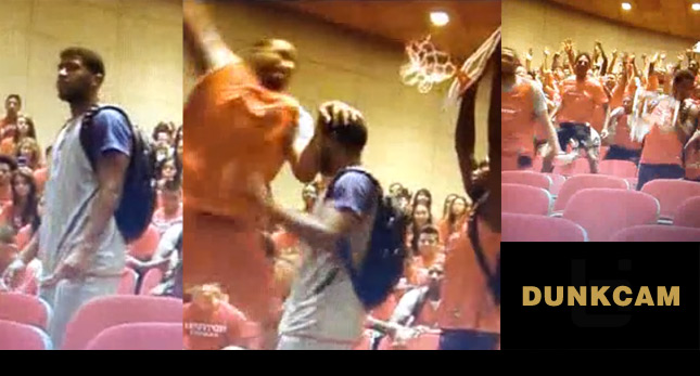 Student gets dunked on during class | History of the Dunk Cam