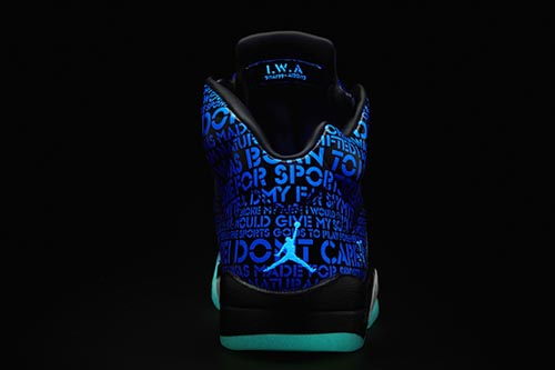 Ballislife | Air Jordan Doernbecher 5 Heel Glow in the Dark